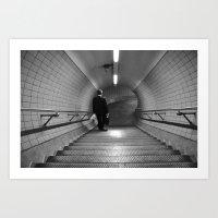 Empty London Underground… Art Print