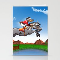 Olympic Equestrian Jumpi… Stationery Cards
