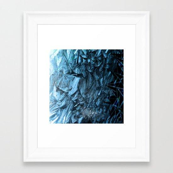 Geometric Frost Framed Art Print