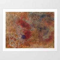 Topography 2 Art Print