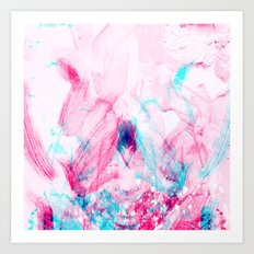 Abstract in Pink Art Print