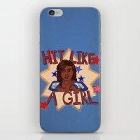 Hit Like A Girl iPhone & iPod Skin