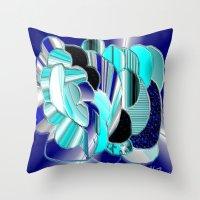 Blueness Throw Pillow