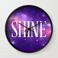 Shine Galaxy  Wall Clock