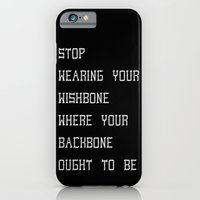 iPhone & iPod Case featuring Backbone by Mariah Williams
