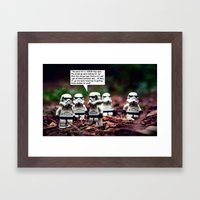 Force Choked =) Framed Art Print