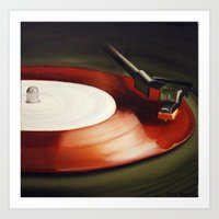 Red Record  Art Print
