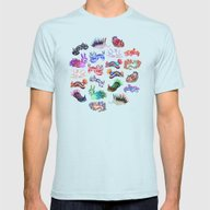 Nudibranch Mens Fitted Tee Light Blue SMALL