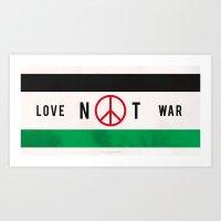Love Not War 1 Art Print