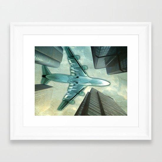Flight path Framed Art Print