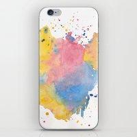 RAINBOW SPLATTER iPhone & iPod Skin