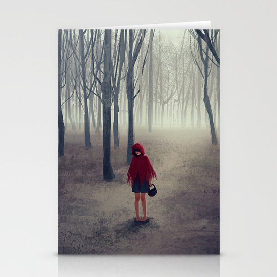 Away from light Stationery Card