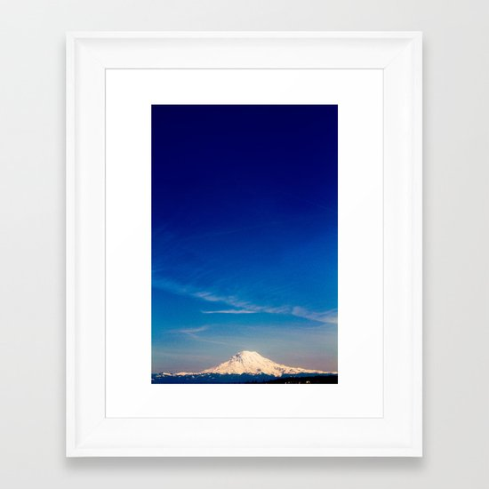 Mt. Rainier . ii Framed Art Print