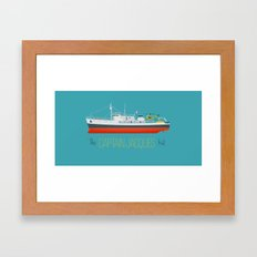Captain Jacques' Boat Framed Art Print