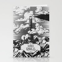 Lord of the Rings Mordor Tower Vintage Geek Art Stationery Cards