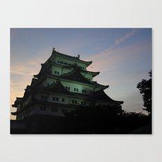 Japanese Castle at Sunset Canvas Print