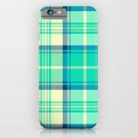 Turquoise Tartan iPhone 6 Slim Case