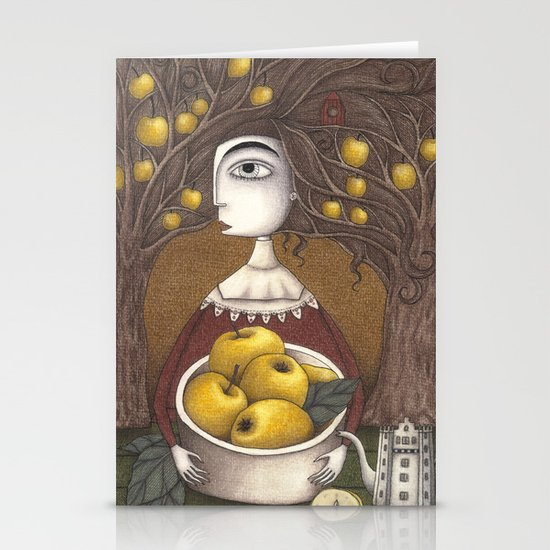 Portrait of an Apple Orchard Stationery Card