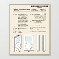 Media Player Patent Canvas Print