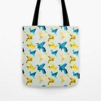 paper cranes in flight Tote Bag