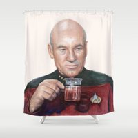 Tea. Earl Grey. Hot. Cap… Shower Curtain