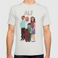 Alf Mens Fitted Tee Silver SMALL