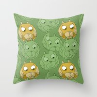 Dog Balls Throw Pillow