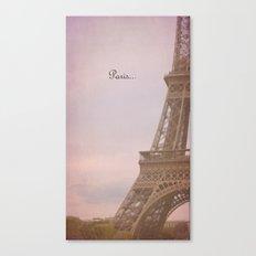 Paris... Canvas Print