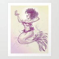 Mermaid Dime Art Print