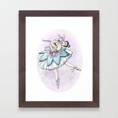 Snow Ballerina  Framed Art Print