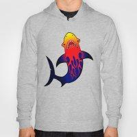 Fabulous Fire Shark  Hoody