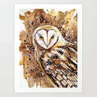 Winter's Owl Art Print