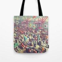Pier Tetris Tote Bag