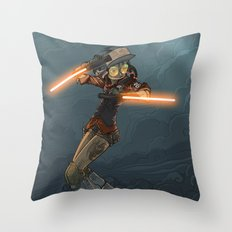 LaserGirl Throw Pillow