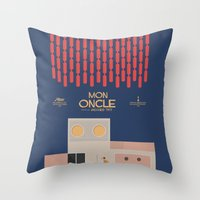 Mon Oncle - Jacques Tati Movie Poster Throw Pillow