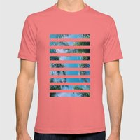 PALM TREES Mens Fitted Tee Pomegranate SMALL