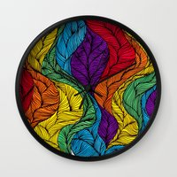 Rainbow Hair Wall Clock