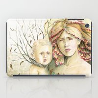 Mother Earth to her child iPad Case