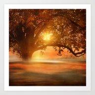 Romance In Autumn Art Print
