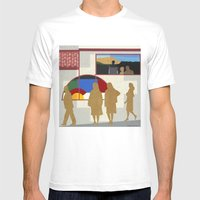 El Burrito Mens Fitted Tee White SMALL