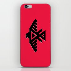 Thunderbird, Emblem of the Anishinaabe people - Black on Red version iPhone & iPod Skin