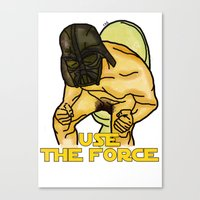 Use The Force Canvas Print