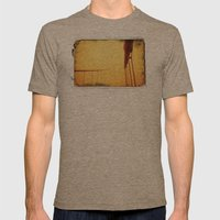 Golden - Golden Gate Bridge Mens Fitted Tee Tri-Coffee SMALL