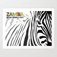 Zambia Art Print