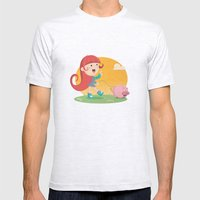 Lilly and Piggy Mens Fitted Tee Ash Grey SMALL