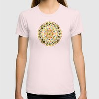 Pink Carousel Mandalas Womens Fitted Tee Light Pink SMALL