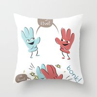 High Five (gloves Versio… Throw Pillow