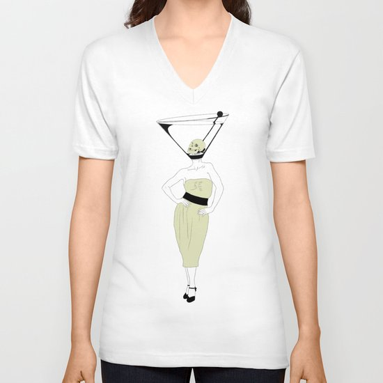 LIQUID DINNER PARTY DARLING, ANOTHER MARTINI? V-neck T-shirt