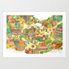 Slowtown Art Print