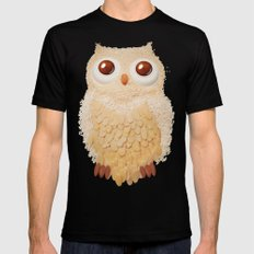 Owlmond 1 SMALL Black Mens Fitted Tee